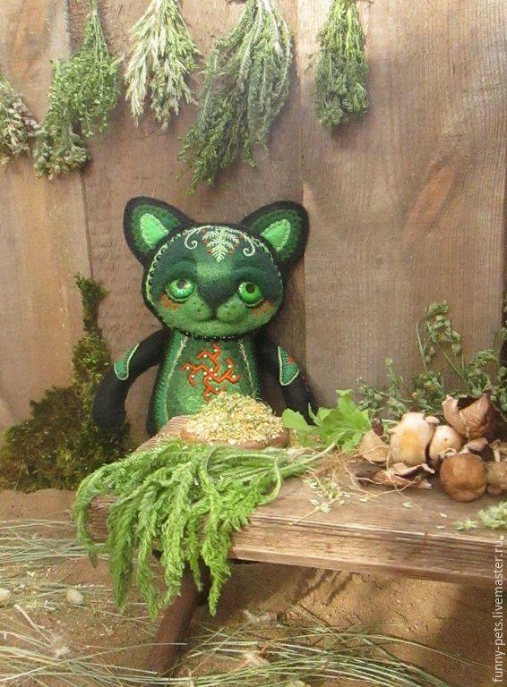 Купить Игрушка Ведьмин Котик. - игрушка ручной работы, котик, кот, ведьма…