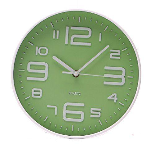 SonYo Indoor/Outdoor Simple Modern Big 3D Arabic Numerals Silent Quartz Non-ticking Wall Clock 10 Inch Green #Arabic #Clock #Green #Inch #Indoor/Outdoor #Modern #NonTicking #Numerals #Quartz #RusticMantelClock #Silent #Simple #SonYo #Wall The Rustic Clock