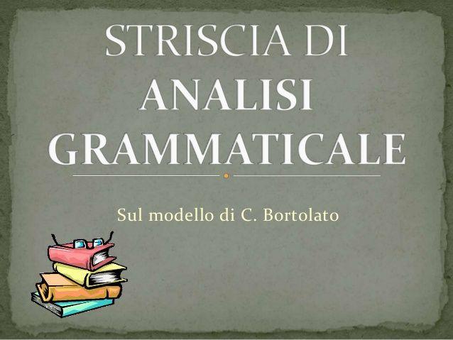 Striscia di analisi grammaticale