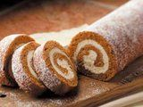 """5 Star Pumpkin Cake Roll Recipe.  """"This is great to keep in the freezer for a quick dessert for my family or unexpected guests, to take to a gathering or to give as a yummy gift,"""" says Erica Berchtold of Freeport, Illinois. TIP: """"It's in such demand, I use a 29-ounce can of pumpkin to make four rolls at a time."""""""