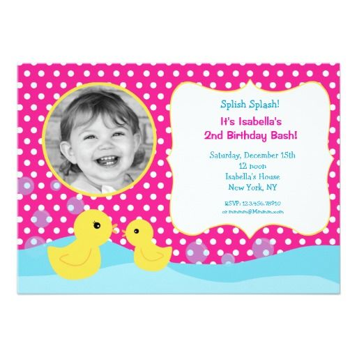 395 best Duck Birthday Party Invitations images – Rubber Duck Birthday Invitations