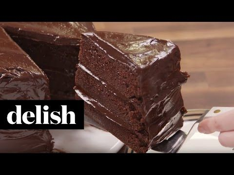 Best Chocolate Fudge Cake Recipe - How To Make Chocolate Fudge Cake - Delish.com