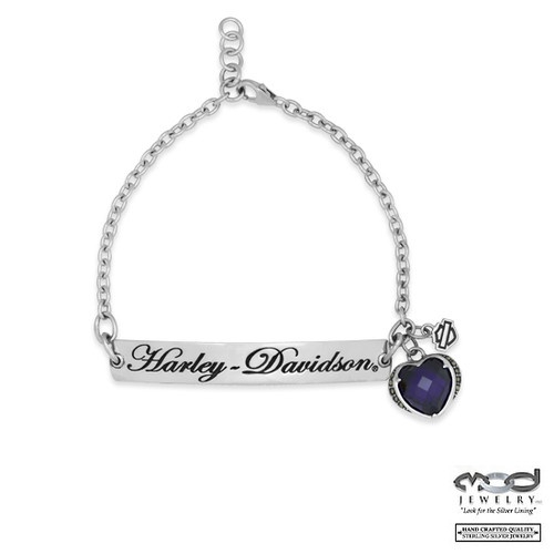 Women 39 s harley davidson purple heart marcasite charm id for Harley davidson jewelry ebay