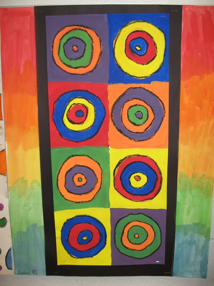 Jamestown Elementary Art Blog: 4th grade art based on the abstract style of Wassily Kandinsky.