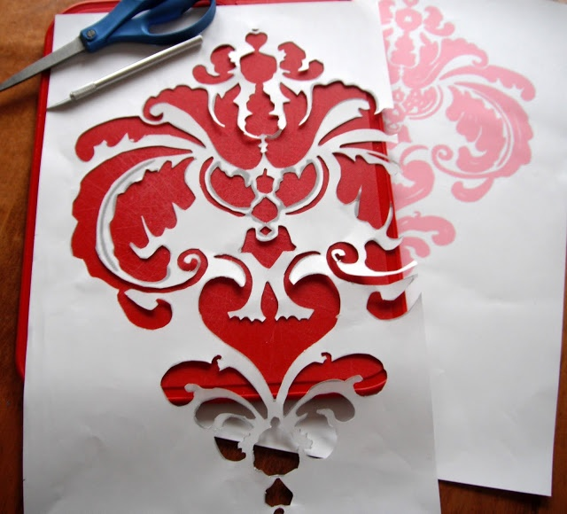 how to cut out stencils for glass etching