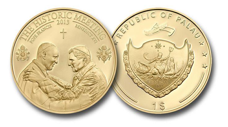 La moneta dello storico incontro tra due Papi