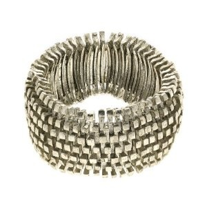 Silver Metal Costume Bracelet in Elastic Cord Fashion Jewellery Indian: ShalinCraft: Amazon.co.uk: Jewellery