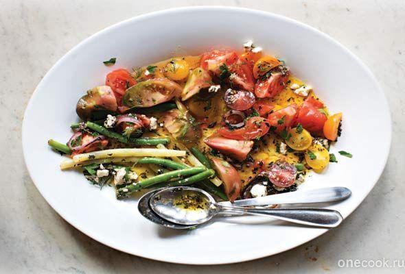 Салат из помидоров и зеленой фасоли — Рецепты с фото, домашние рецепты, рецепты тортов, салаты на Onecook.ru