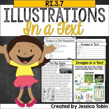 Images in a Text RI3.7Third Grade Reading: Images in a Text Resource-This pack is packed full of ideas and resources to use while you are teaching the CCSS standard RI 3.7. If you are not teaching Common Core, then the pack is still valuable to use when teaching 3rd grade students to find key details from the text and the images given in a nonfiction text.Please check out the preview to see ALL the 'Images in a Text' resources that you're getting!