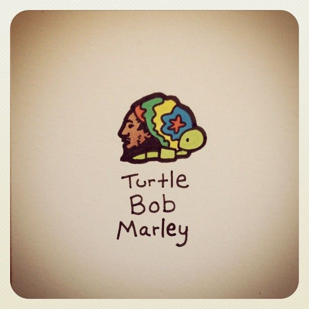 Turtle Bob Marley #turtleadayjune - @turtlewayne- #webstagram