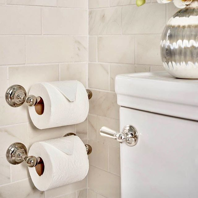 A completely random post but while I was working on a project this morning I was reminded of a little detail I like to add when designing bathrooms. I always stack two toilet paper holders one above the other like we do in commercial design.  That way you never run out of paper! Of course I try desperately to hide these in an out of site corner conveniently to the toilet! Makes men really happy! Just thought I would share that little tidbit on this dreary Monday morning! Happy Monday folks!