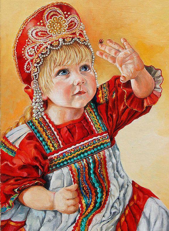 Картинка девочка красавица русская