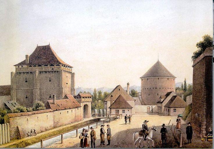 Johann Böbel - Poarta Burger-Ocnei, la 1857.jpg