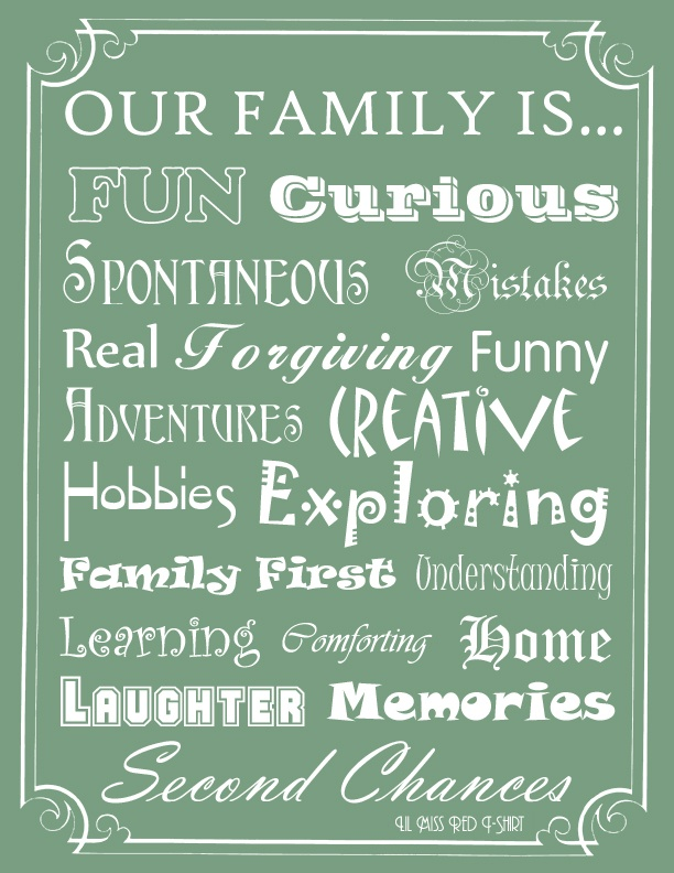 what a family should strive for