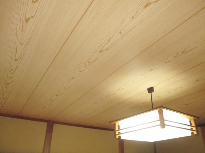 堺市北区 H様邸 内装リフォーム 和室天井クロス張替え事例 和室 天井