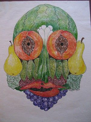 Marthann's Musings: Guiseppe Arcimboldo; Fruit and Vegetable Artist