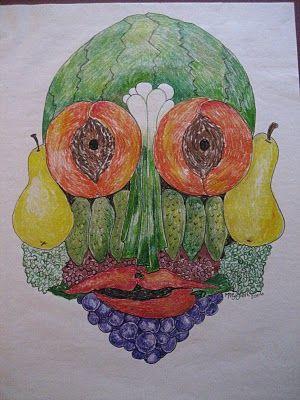 Marthann's Musings: Guiseppe Arcimboldo; Fruit and Vegetable Artist