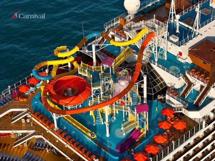 The Average Length Of A Waterslide On A Carnival Ship Is
