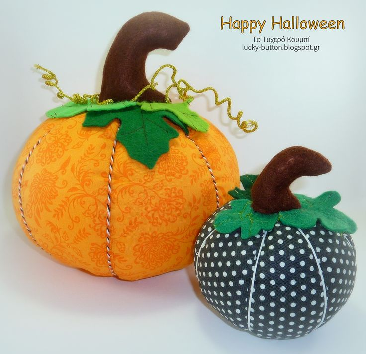Happy Halloween! Pumpkin pillow, pincushion.