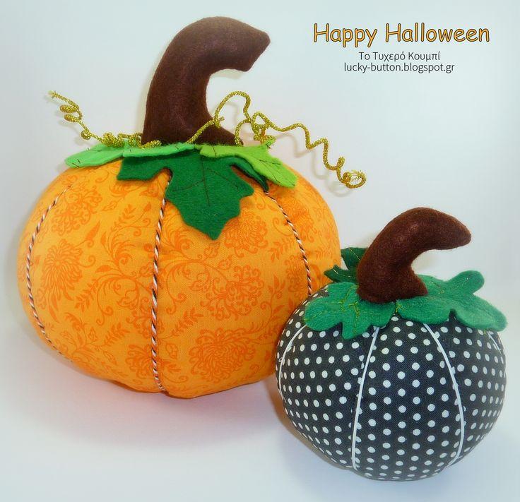Happy Halloween! Pumpkin pillow, pincushion.