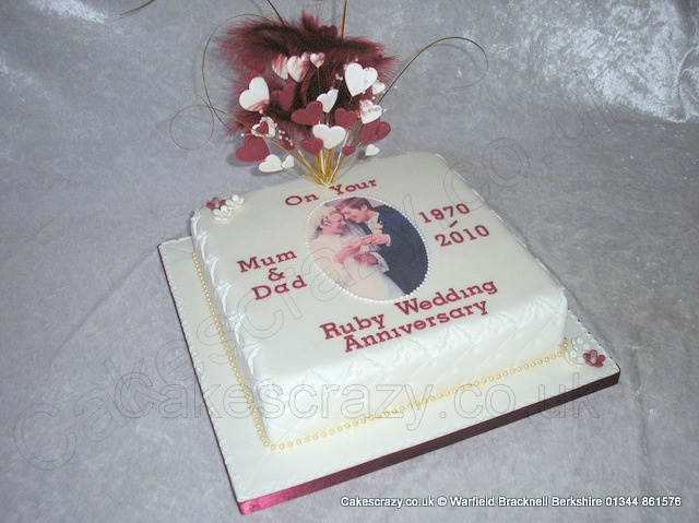 Ruby Wedding Anniversary Cake Ideas: 1000+ Images About 40th Anniversary On Pinterest