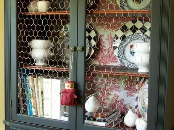 Luxury Chicken Wire Cabinet Doors