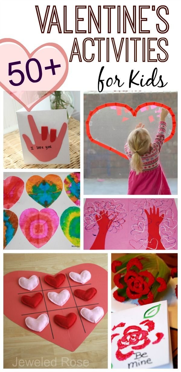 Over 50 FUN valentines activities for kids- arts and crafts, games, play recipes, yummy treats, and MORE!