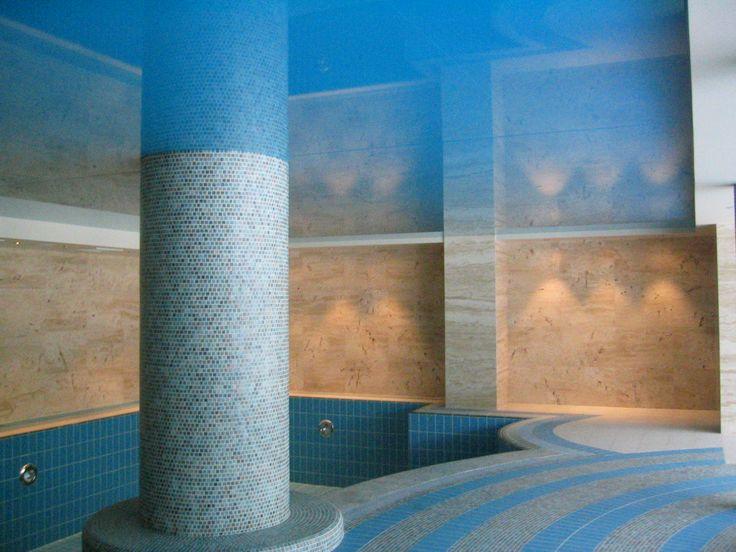 techo lacado en piscina