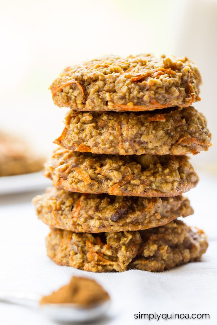 These simple quinoa breakfast cookies taste just like carrot cake, but without all the guilt. A simple blend of ingredients, they're healthy and delicious.