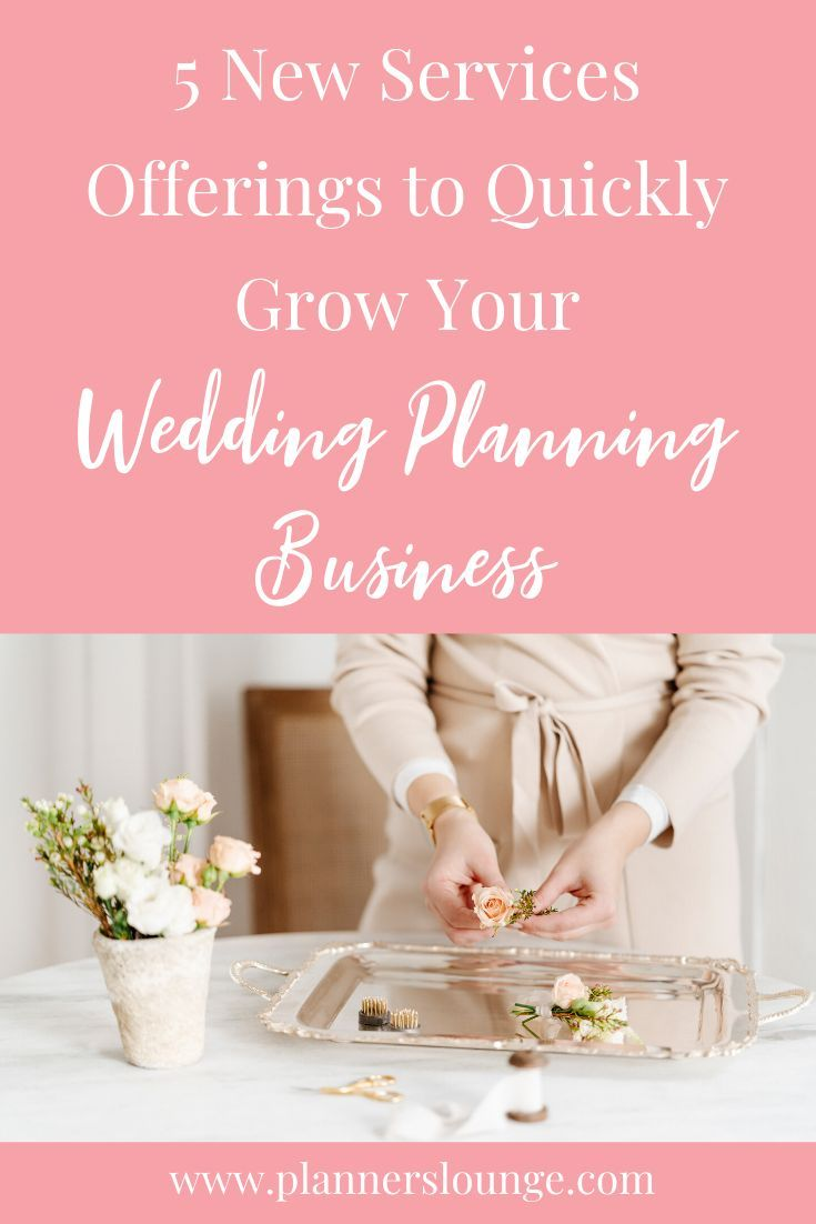 Five New Income Streams for Your Wedding Planning Business | Wedding  planning business, Wedding planner business, Wedding planning