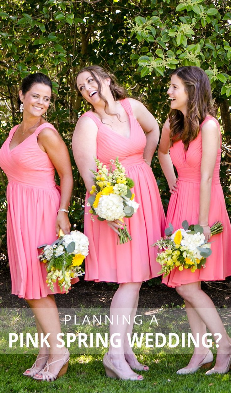 46 best spring wedding ideas images on pinterest spring weddings dress your go to gals in pretty pinks for your spring wedding shop ombrellifo Choice Image