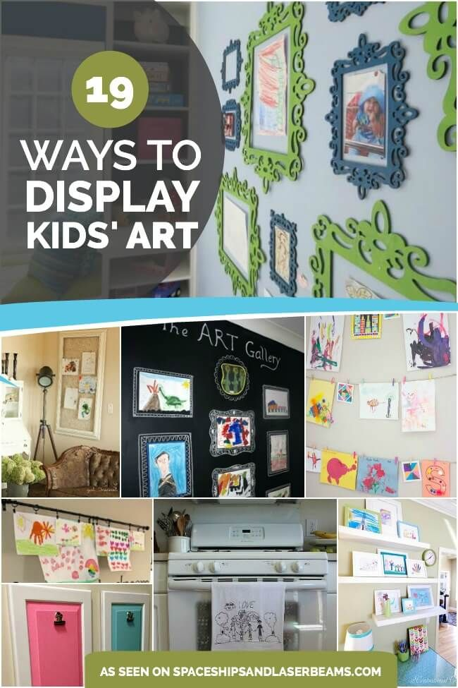 19 Ways To Display Kids School Art Projects