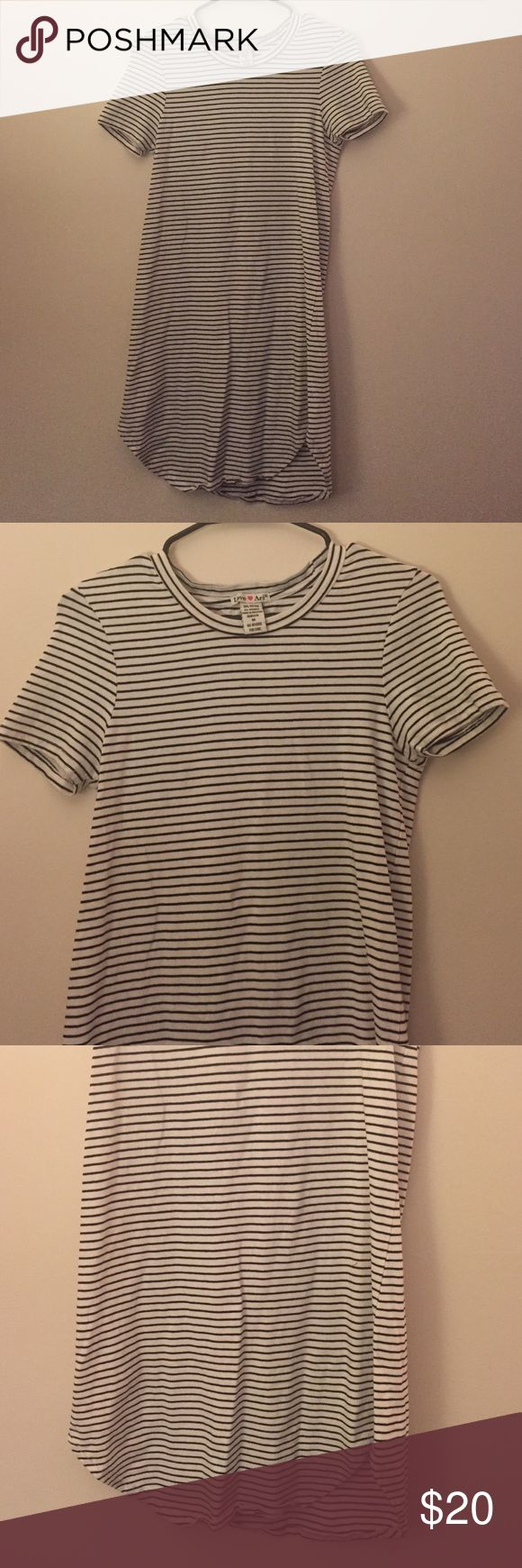 Striped T-Shirt Dress Striped T-Shirt Dress, size medium. NWOT. Looks perfect with boots and a sweater! Dresses Mini