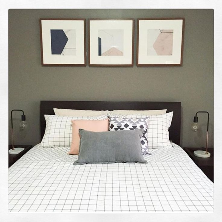 Love this pastel pink, grey and marble bedroom kmart Hack | Our Urban Box