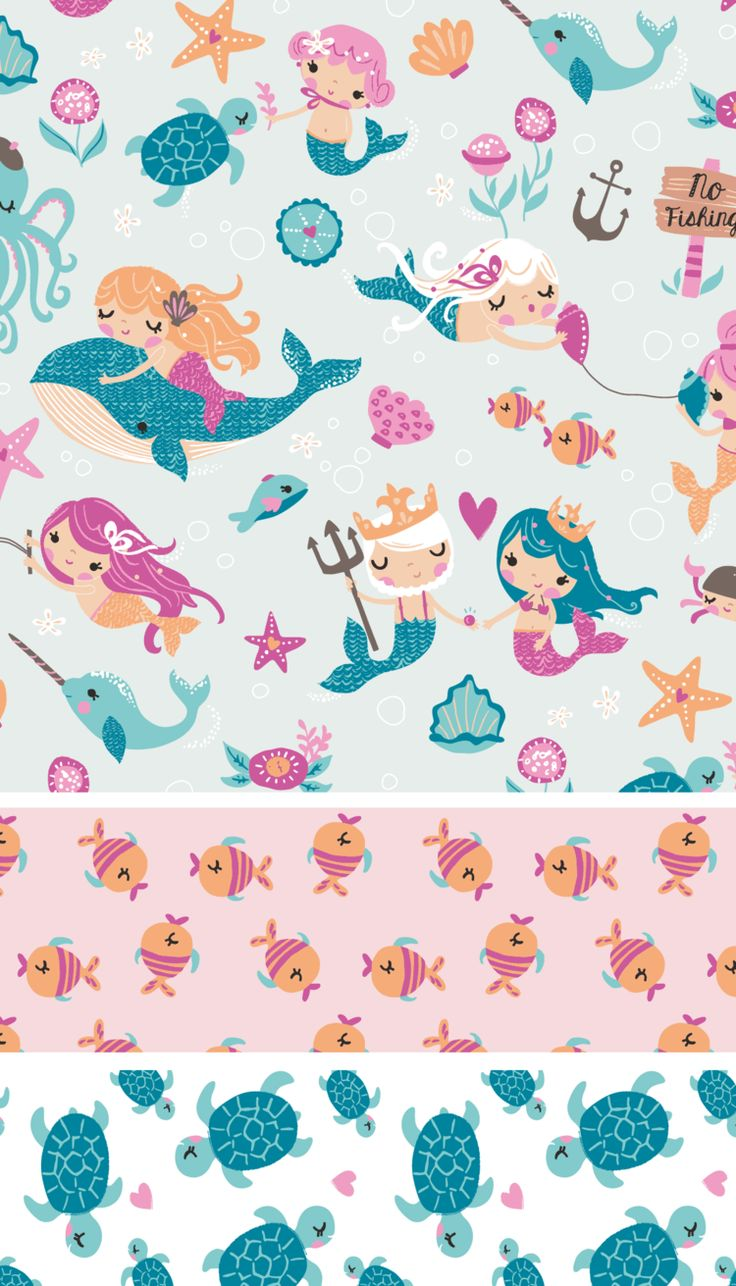 Inga Wilmink for Jo-Ann Stores - Mermaid fabric I WANT TO MAKE A QUILT!!