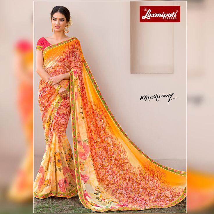 🔎 Looking for multicolor #georgette #designer #printedsaree and multicolour #Bhagalpuri pink blouse along with rawsilk zari lace border in India? #Laxmipatisarees is your one stop #shop for all kinds of designer #printed_sarees. #Catalogue-KHUSHRANG #Price -₹ 1525.00, Designnumber-4565  #OrderOnline #Cashondelivery #Freeshipping #Nayazamana #Fashion #Style #Newarrival #KHUSHRANG0317 #Onlineservices