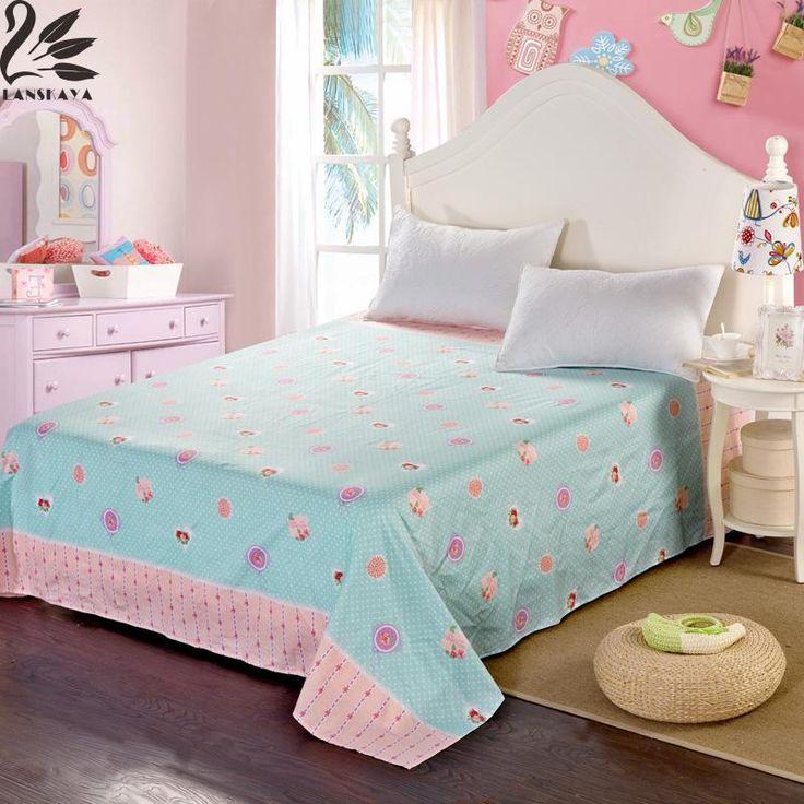 Lanskaya 100% Cotton Jacquard Geometric Flat Sheet Colorful Bedsheets Twin Queen King Size Sheets
