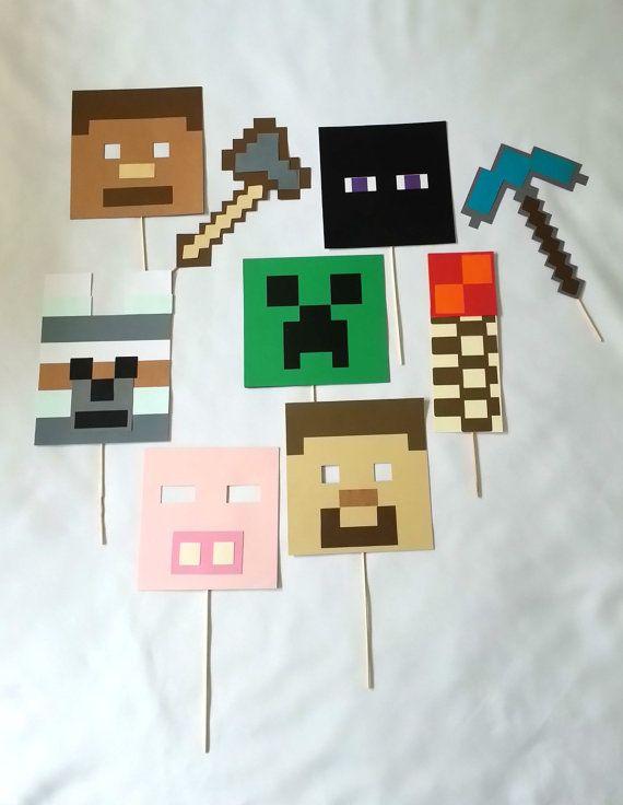 9 Piece Minecraft Foto Booth set