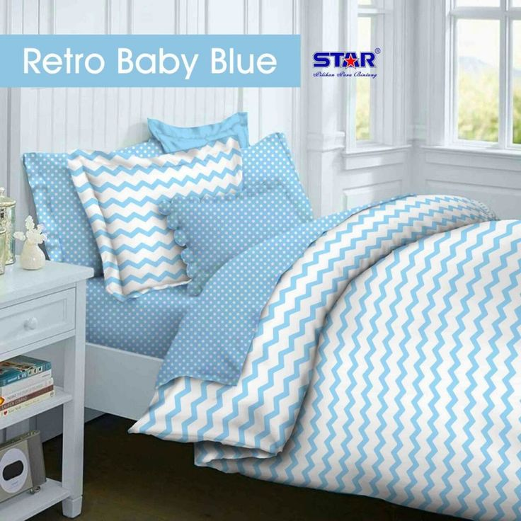 Motif Retro baby blue