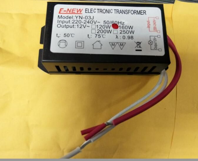 3 Year Warranty New G104 160w Input Ac 220v Output Ac 12v Halogen Light Led Driver Power Supply Converter Electronic Transformer Halogen Lamp Crystal Lighting Light Accessories