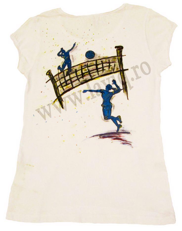 Tricou pictat VOLLEYBALL    www.laviq.ro www.facebook.com/pages/LaviQ/206808016028814