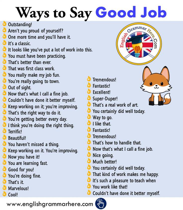 +45 Ways to Say GOOD JOB in English