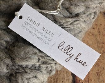 hand knit tag