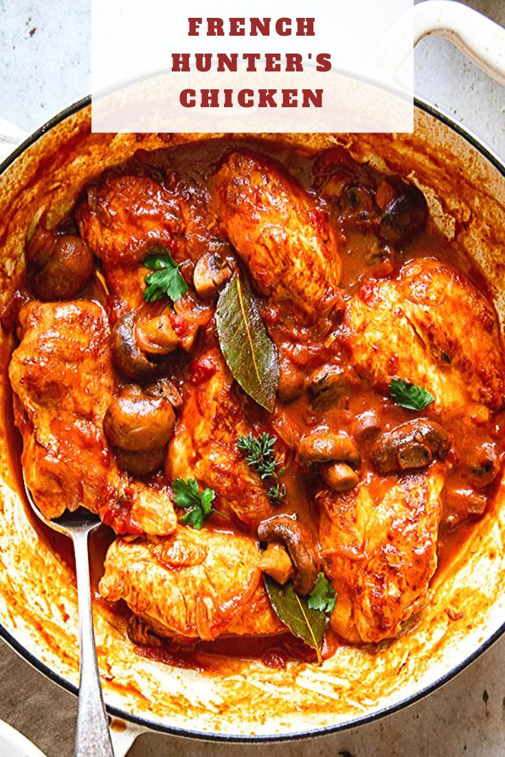 Chicken Breasts Braised In Rich Tomato Sauce With Onions And Mushrooms Are Easy And Delicious In 2020 Chicken Chasseur Recipe Easy Dinner Recipes Winter Dinner Recipes