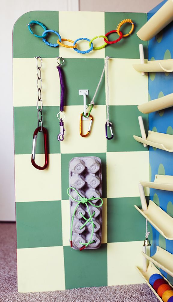 The Clip and Shoe Lace Board  I have visions that my child will now instantly learn to tie his own shoes.