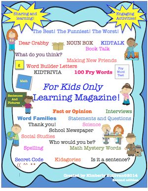 Interactive Learning Packet!! Enter for your chance to win 1 of 3.  Interactive Learning Packet! Printables! Activites! Early Finishers! (64 pages) from Kimberly Sullivan on TeachersNotebook.com (Ends on on 3-2-2015)  This learning packet is filled with activities for your students!