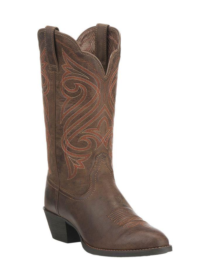 Men's Ariat Heritage Latigo Cowboy Boot, Size: 10.5 D, Cognac Bullhide/Brown Bomber Leather