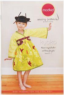 Coup de foudre immédiat - Patron de couture pour vêtement enfant Kyoko par Modkid, création Patty Young (2 - 7 ans)