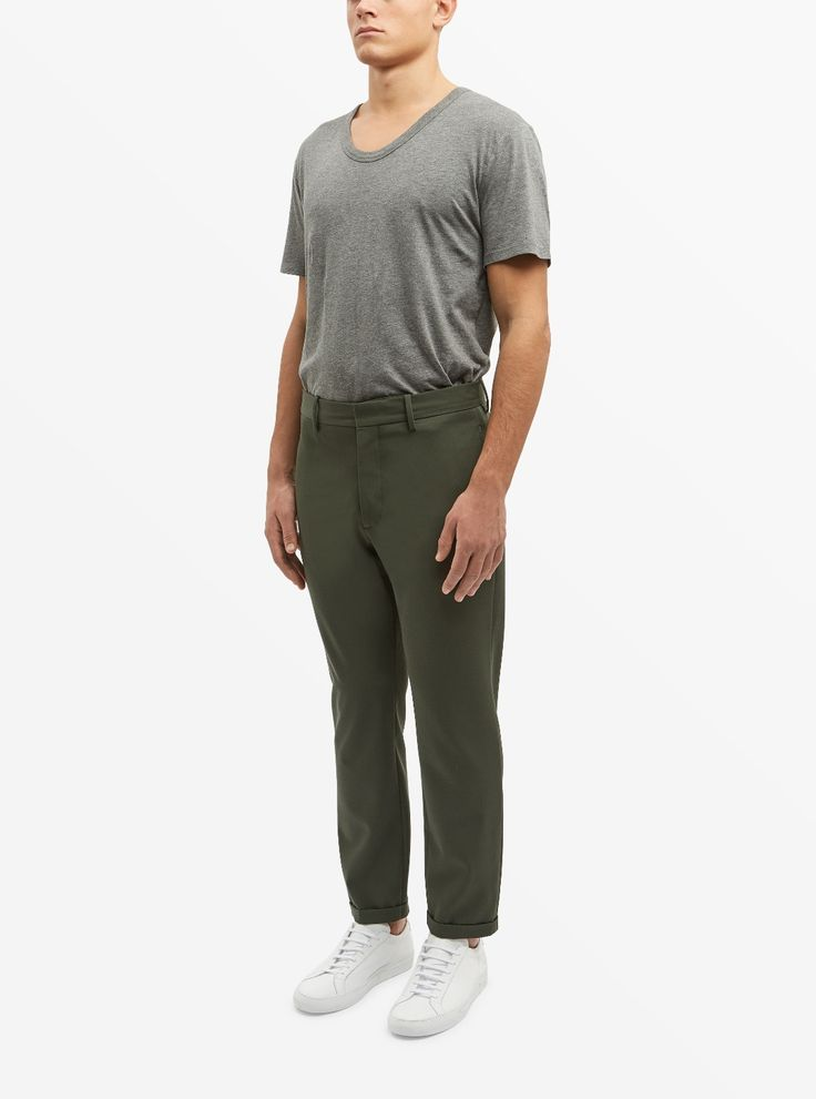 Marni Slim-Fit Cropped Wool Trousers Image 2