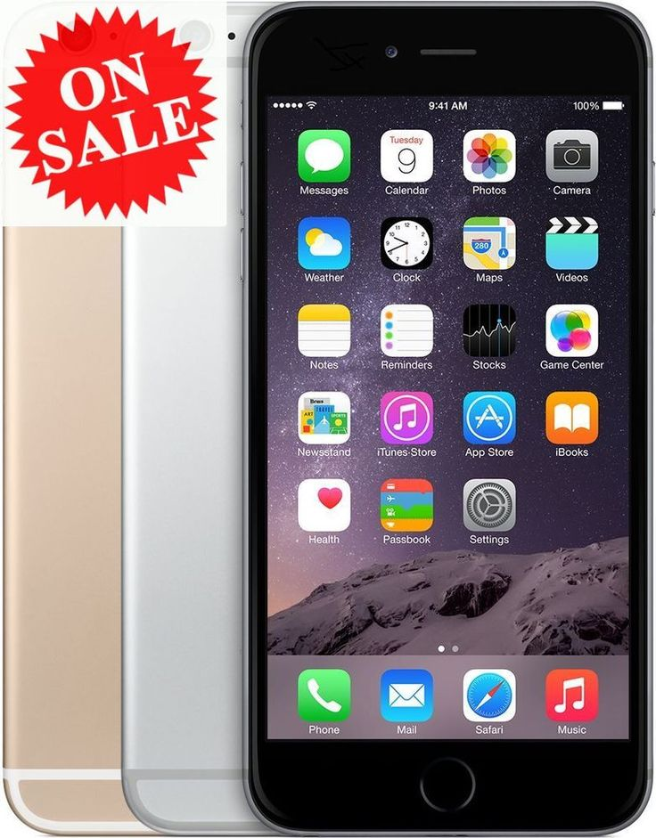 Apple iPhone 6 (Factory Unlocked) AT&T T-Mobile Verizon Space Gray Gold Silver #Apple